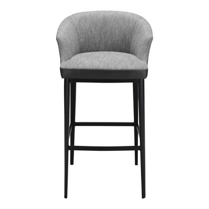Beckett Collection EJ-1029-15 Bar Stool with Injection Foam in Gray