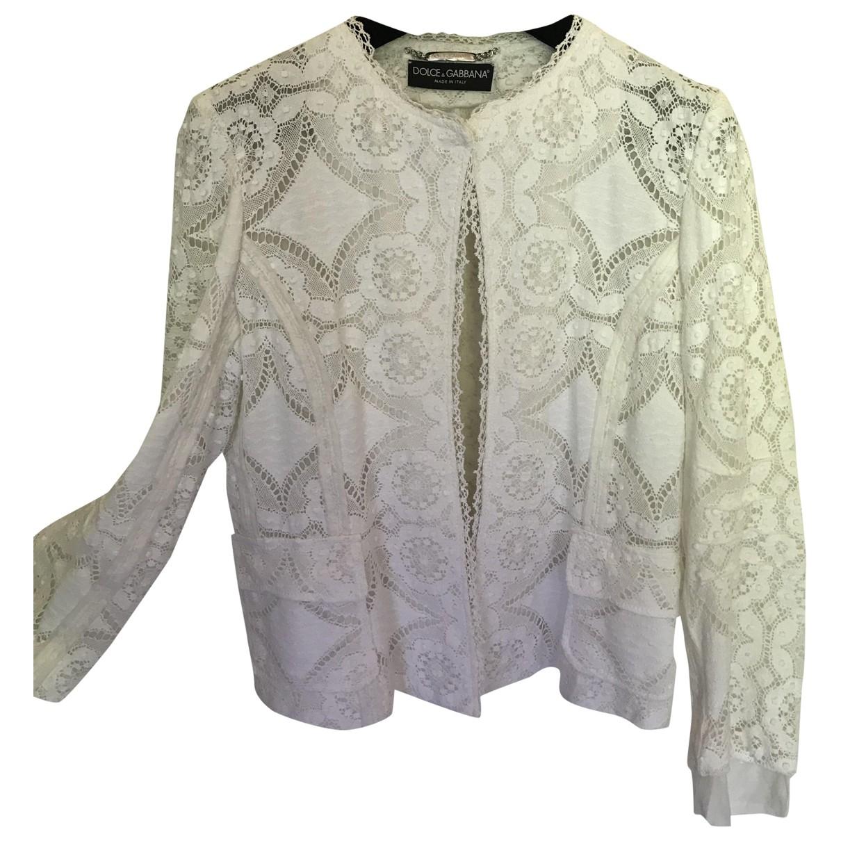 Dolce & Gabbana \N Jacke in  Weiss Baumwolle