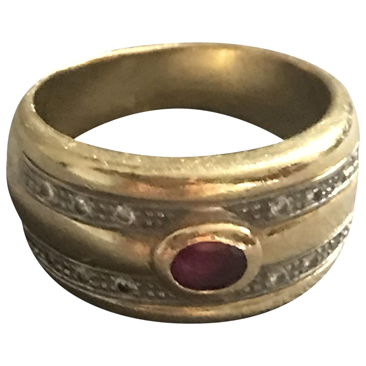 Non Signe / Unsigned Emeraude Ring in  Gold Gelbgold