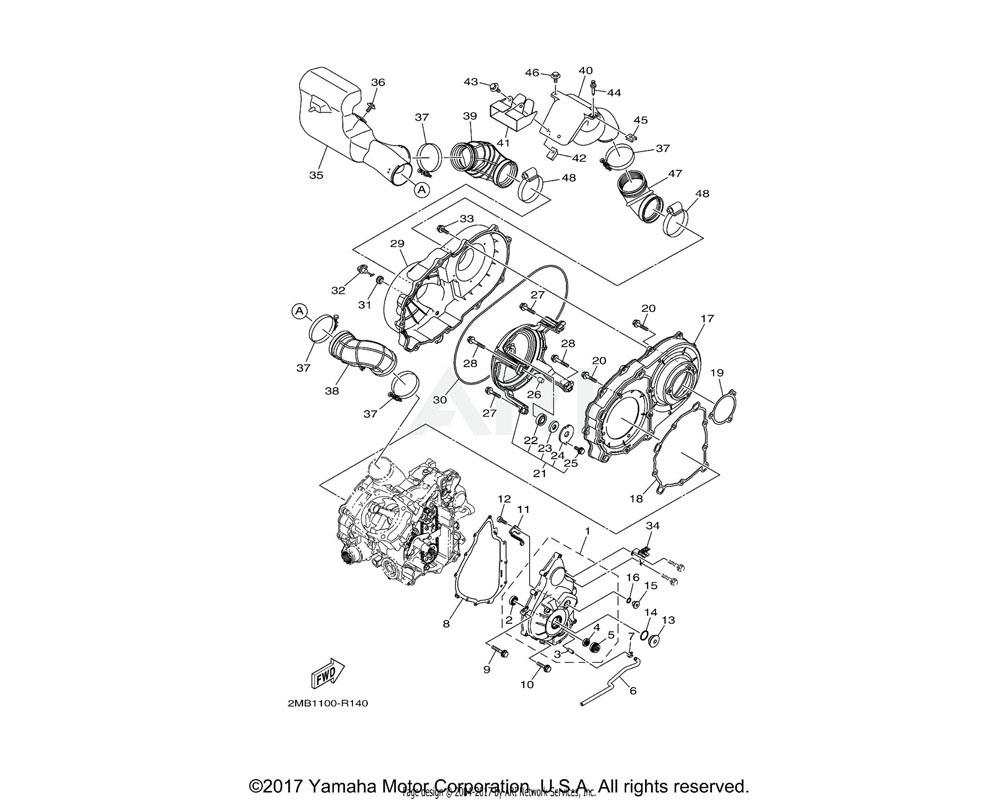 Yamaha OEM 2MB-E5474-00-00 SEAL, AIR DUCT