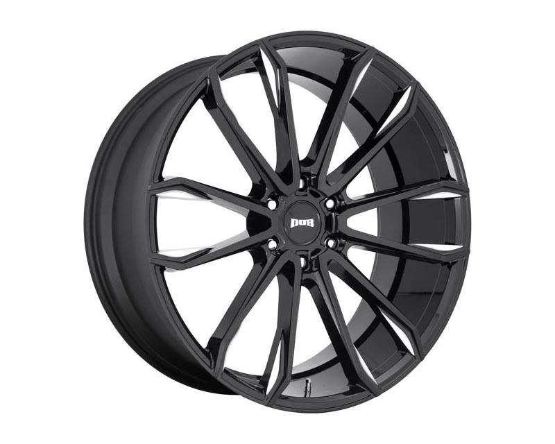 DUB 1 Piece Clout Wheel 24x10 6X5.5 30mm Gloss Black Milled