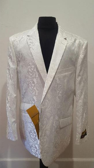 Sportcoat Shiny Fashion White Blazer For Men Dinner Jacket Tuxedo