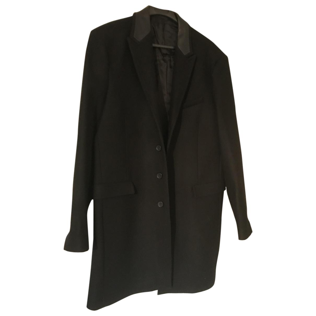 The Kooples - Manteau   pour homme en laine - noir