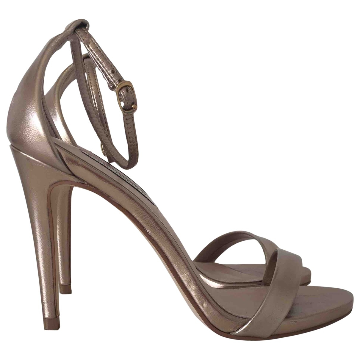 Steve Madden \N Gold Leather Sandals for Women 37 IT