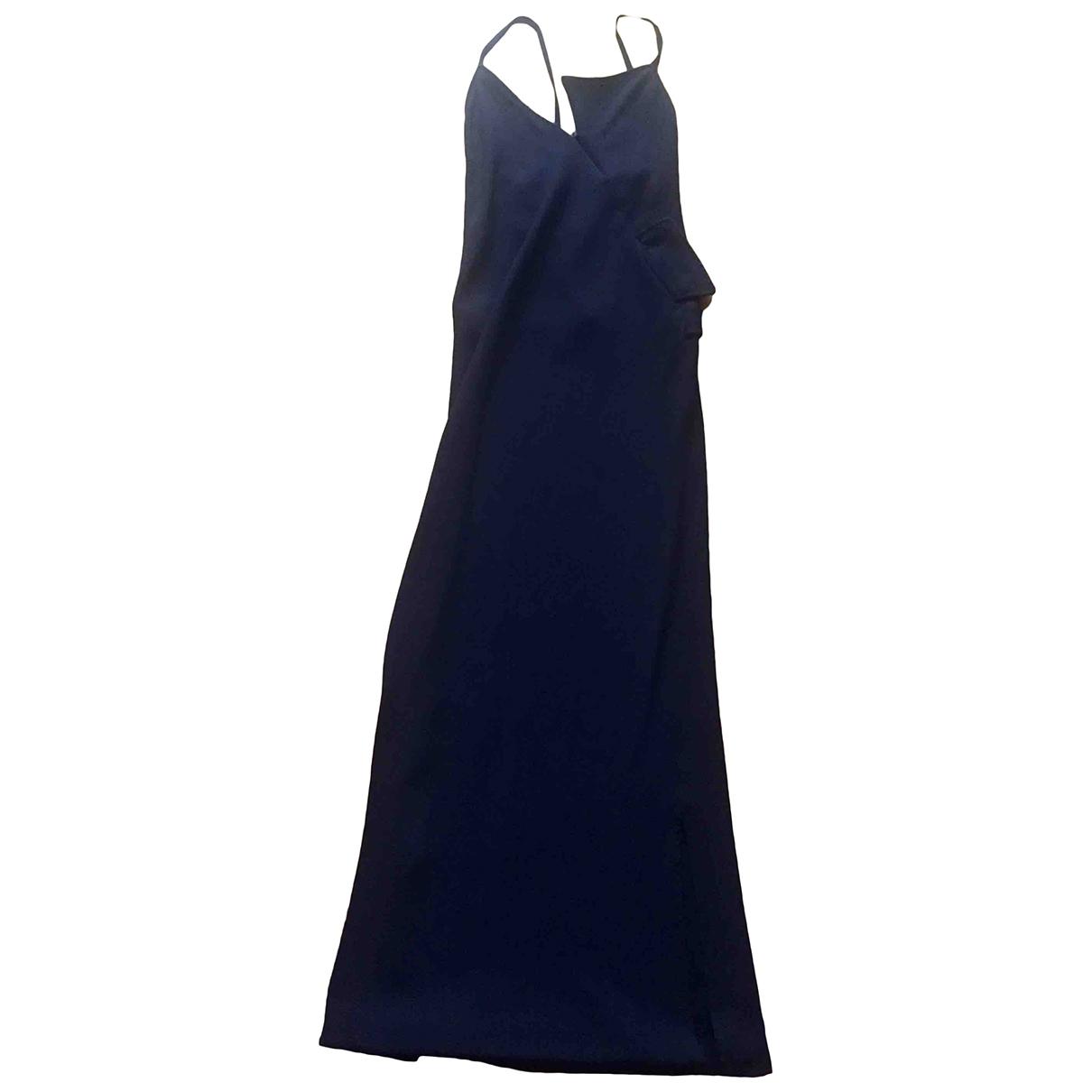 Maison Martin Margiela \N Kleid in  Blau Viskose