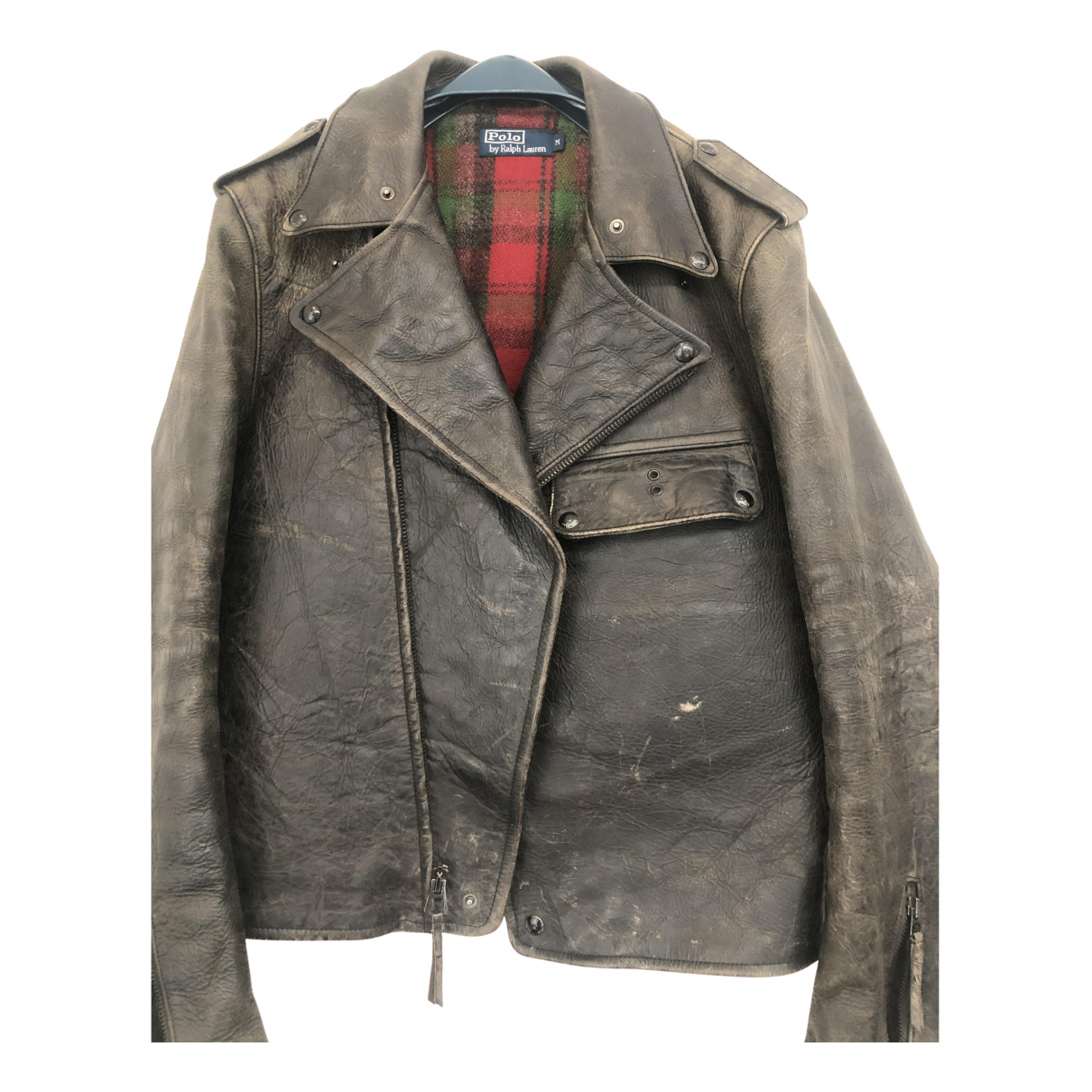 Polo Ralph Lauren - Vestes.Blousons   pour homme en cuir - noir