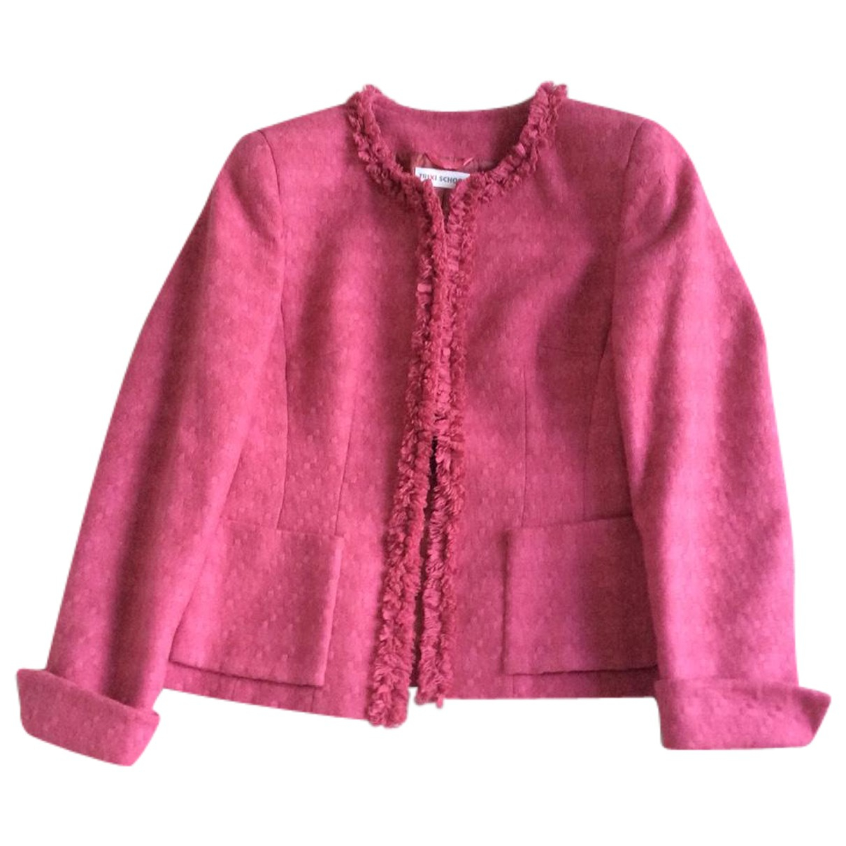 Autre Marque N Pink Wool jacket for Women XS International