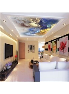 3D Colored Clouds Printed Waterproof Durable and Eco-friendly Ceiling Murals