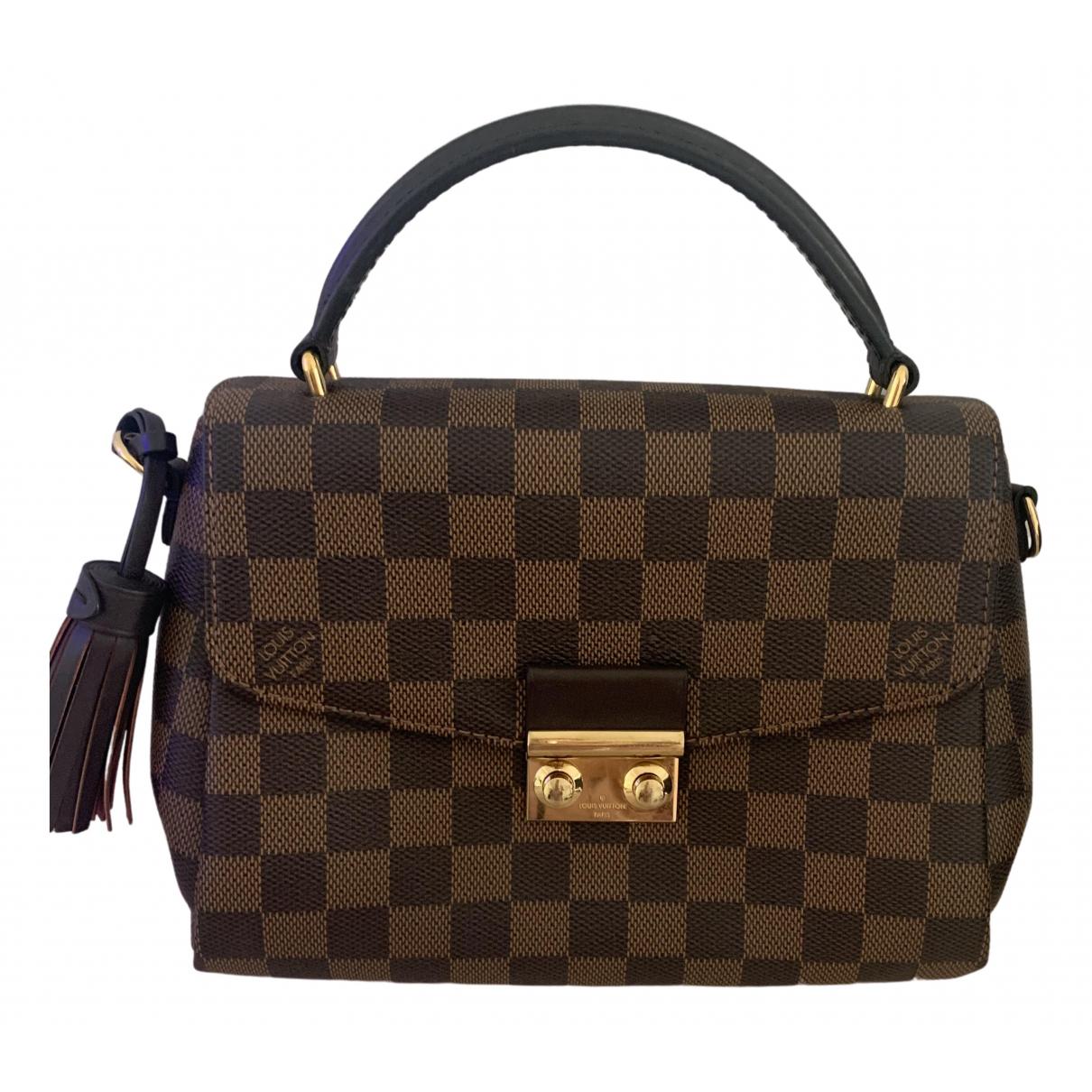 Louis Vuitton Croisette Handtasche in  Braun Leinen