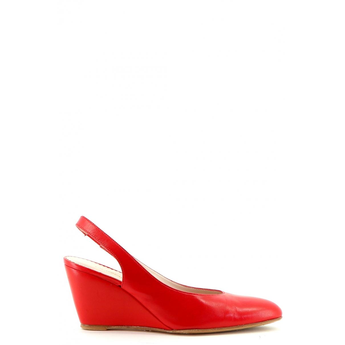 Ungaro Parallele - Escarpins   pour femme en cuir - rouge