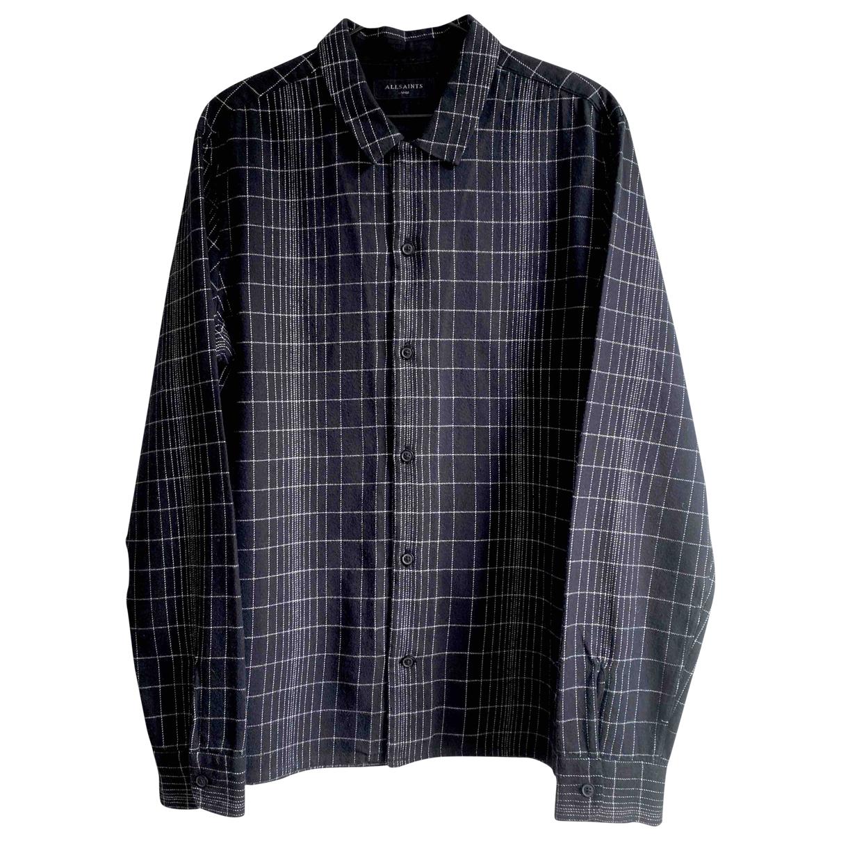 All Saints - Chemises   pour homme en coton - noir