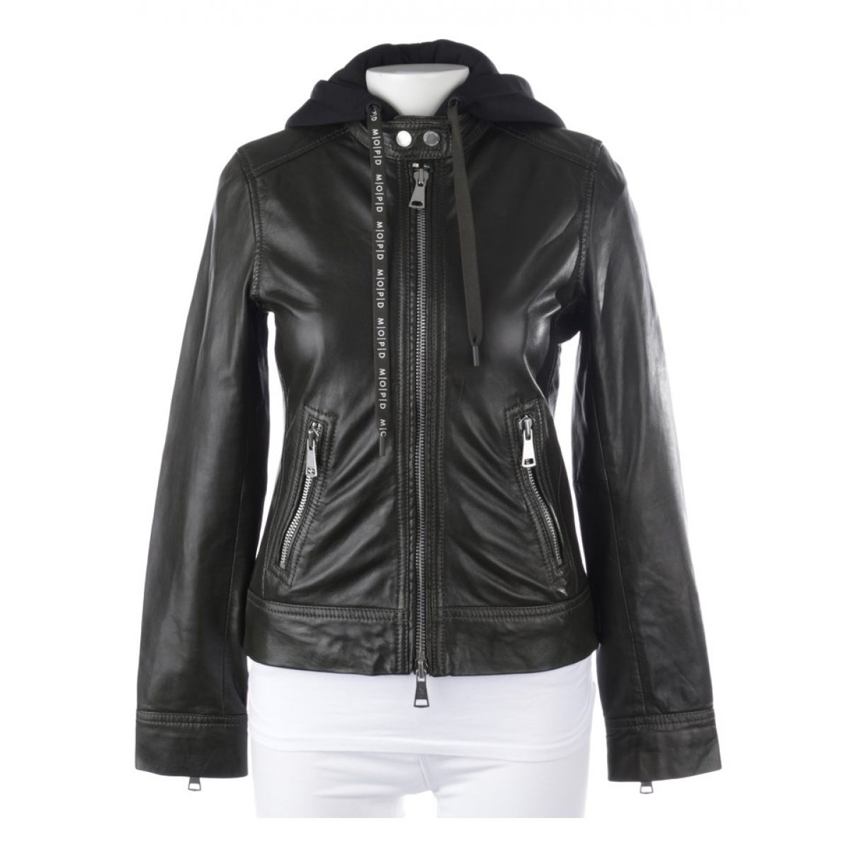 Autre Marque \N Green Leather jacket for Women XS International