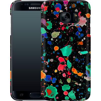 Samsung Galaxy S7 Smartphone Huelle - Colourful Splatter von Amy Sia