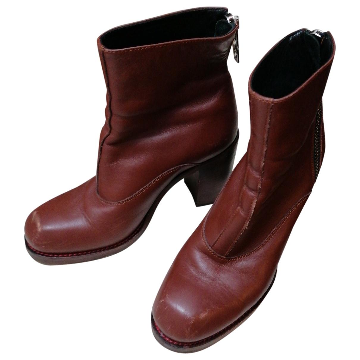 Mcq - Boots   pour femme en cuir - camel