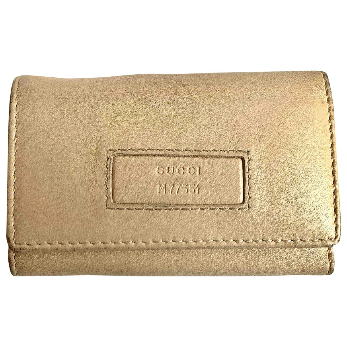 Gucci \N Beige Leather Purses, wallet & cases for Women \N