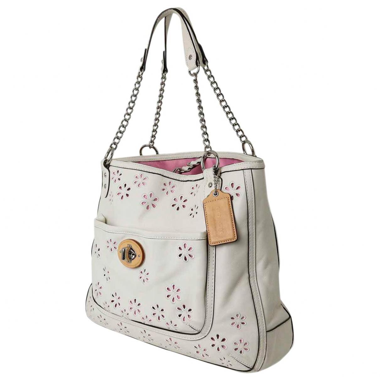 Coach \N Ecru Leather handbag for Women \N