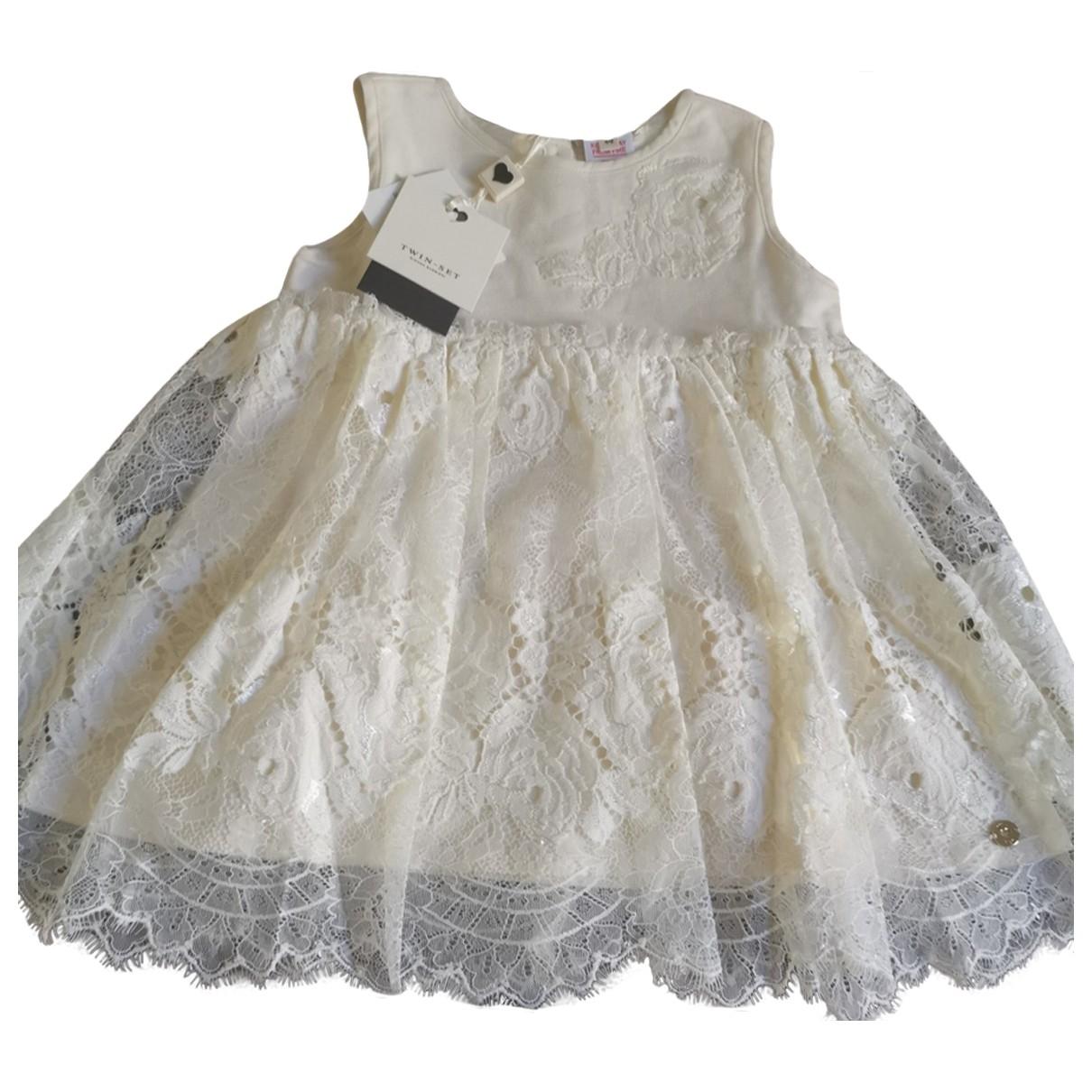 Twin Set \N Kleid in  Weiss Baumwolle - Elasthan