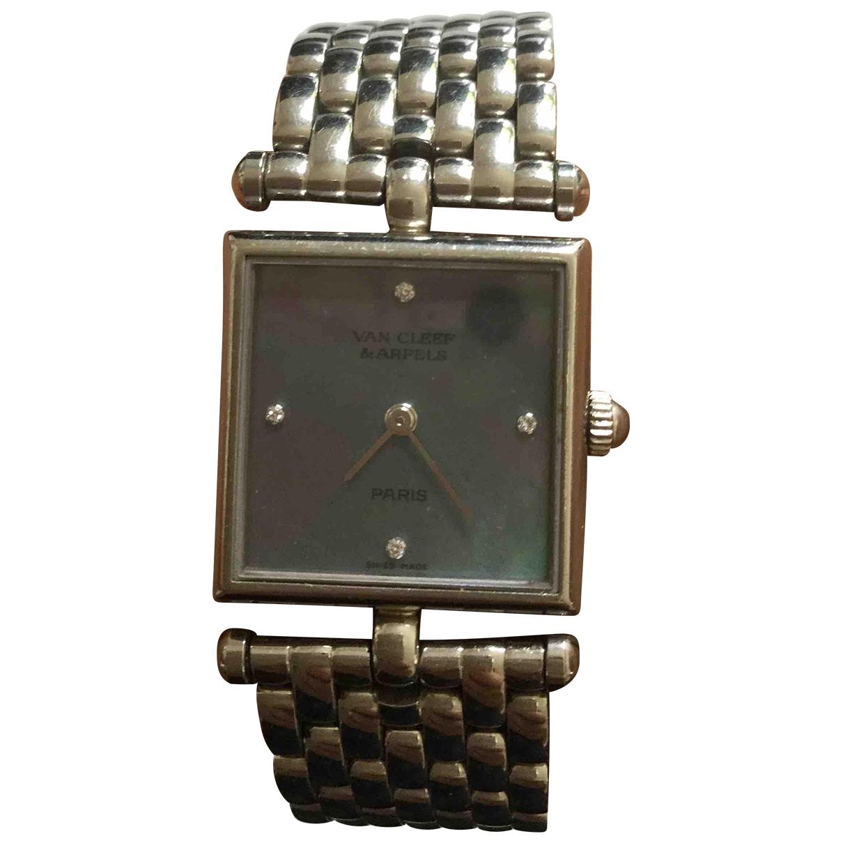 Van Cleef & Arpels \N Uhr in  Silber Stahl