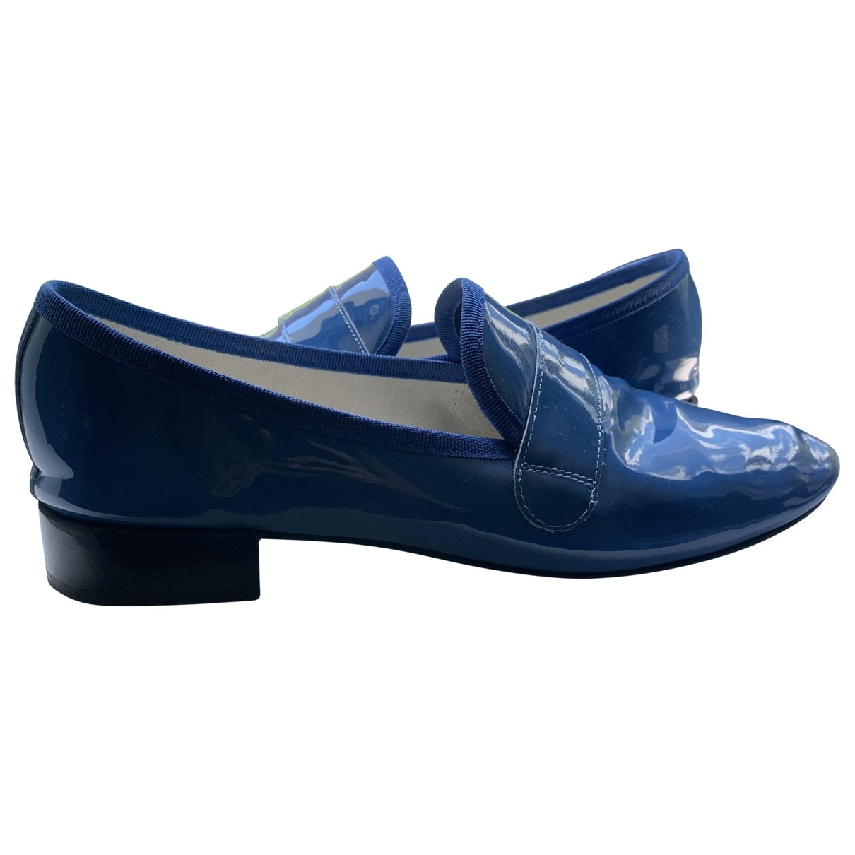 Repetto \N Blue Patent leather Flats for Women 41 EU