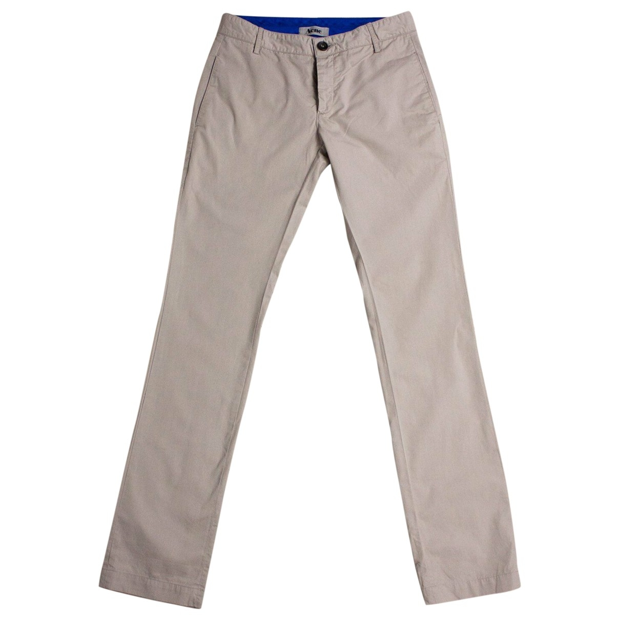Acne Studios \N Brown Cotton Trousers for Women S International
