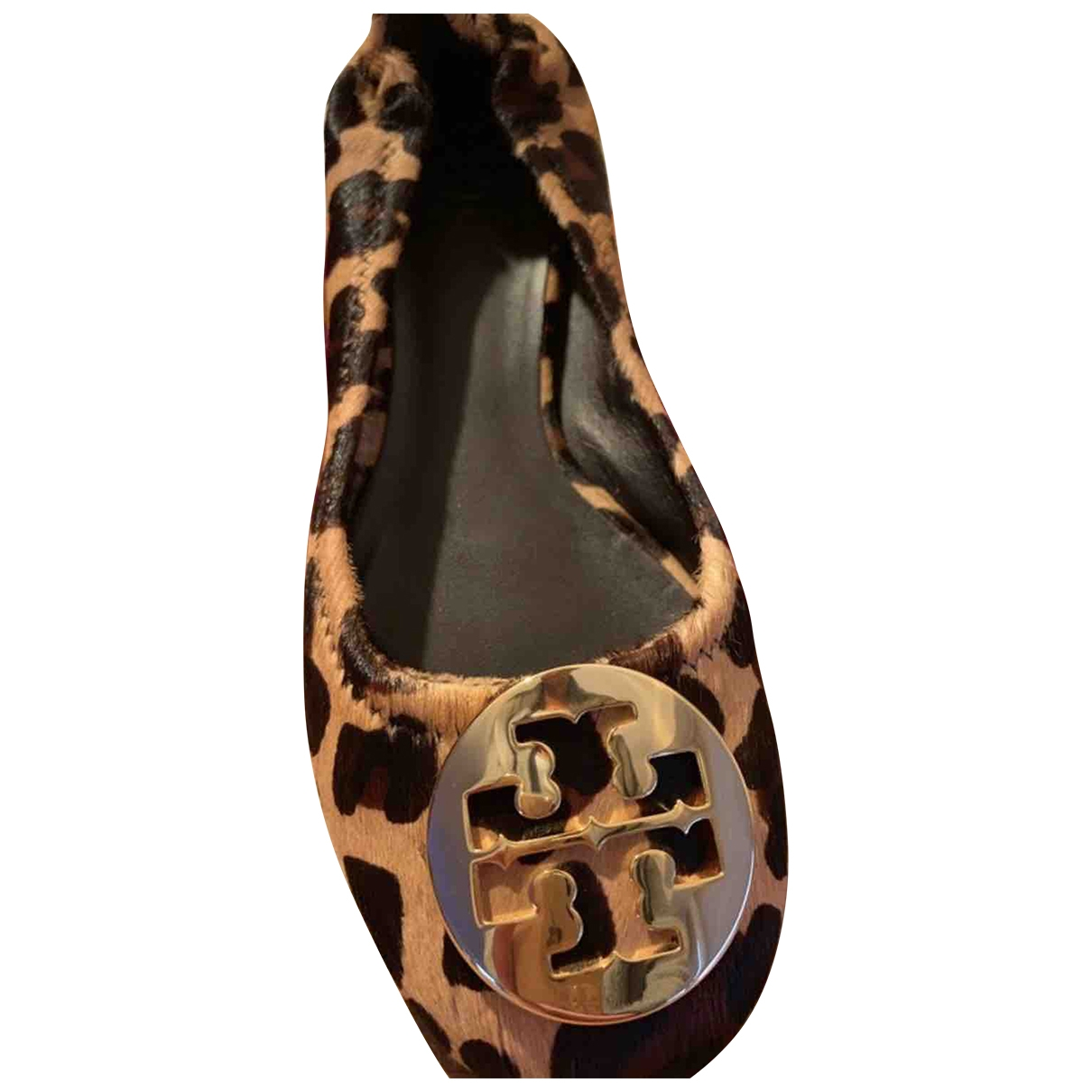 Tory Burch \N Brown Pony-style calfskin Ballet flats for Women 38 EU