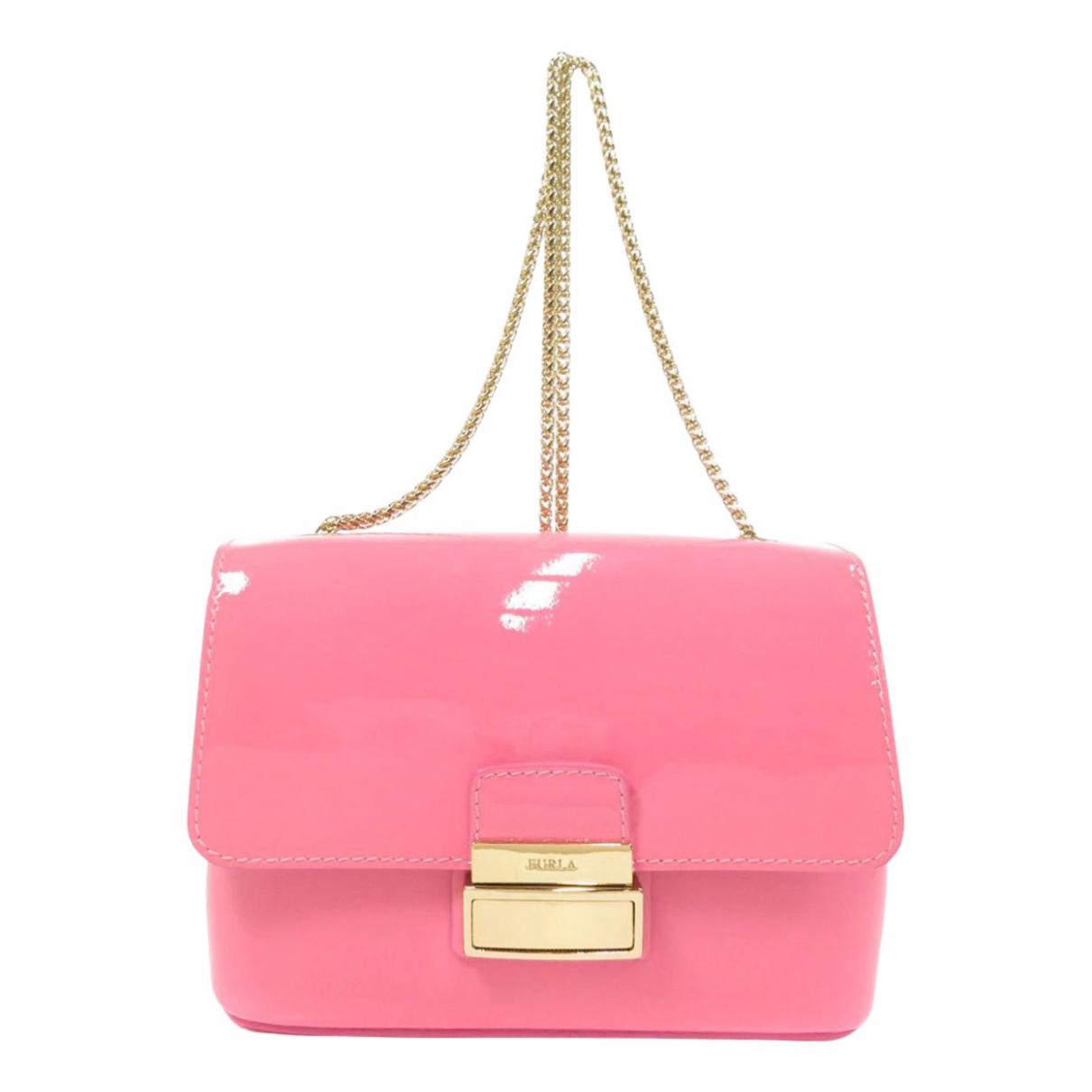 Furla \N Handtasche in  Rosa Lackleder