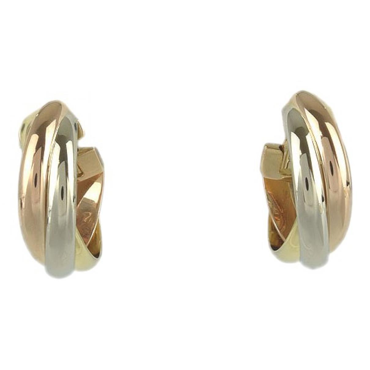 Cartier - Boucles d'oreilles Trinity pour femme en plaque or - dore