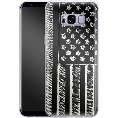 Samsung Galaxy S8 Plus Silikon Handyhuelle - Black and White von caseable Designs