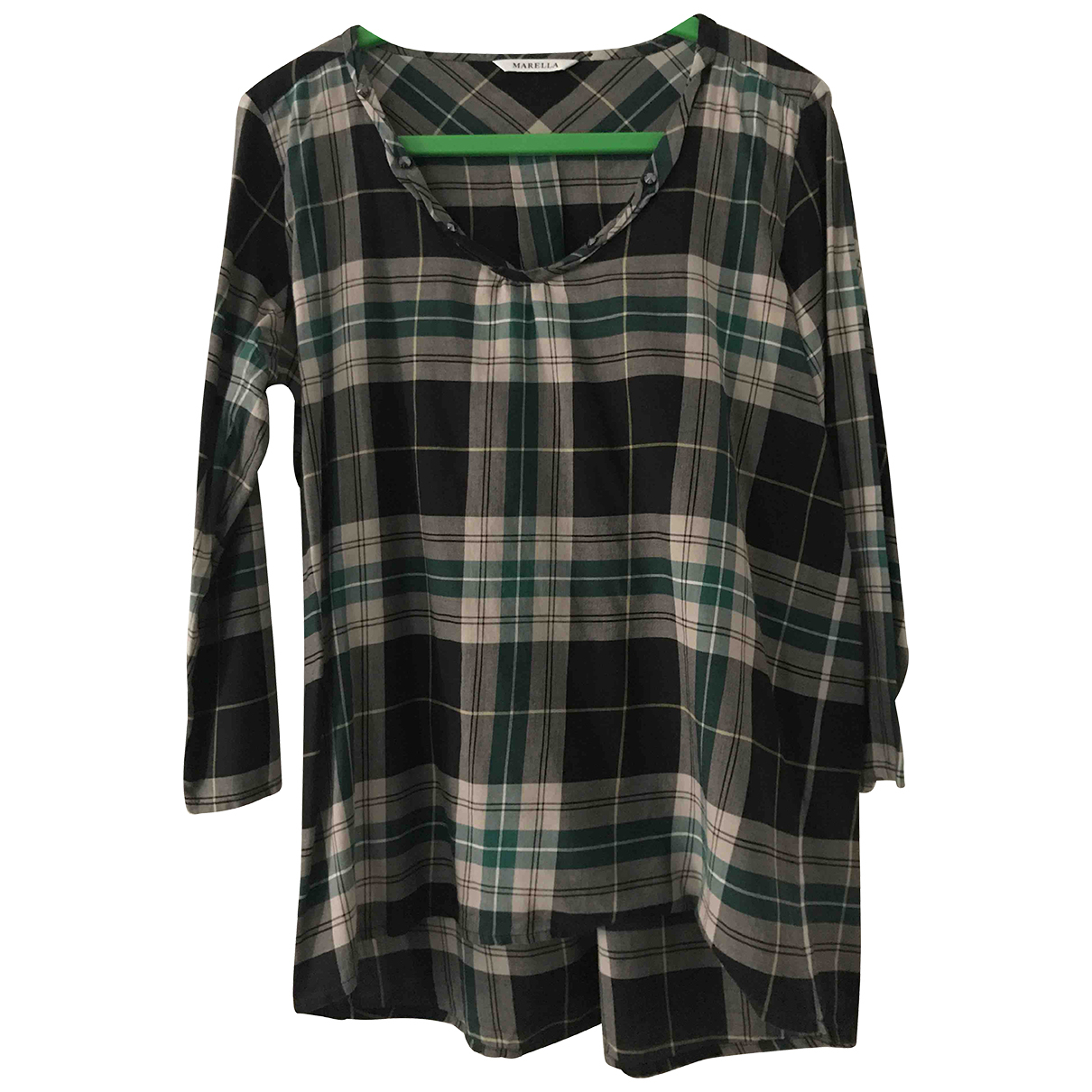 Marella N Green Cotton  top for Women 40 IT