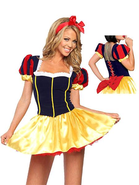 Milanoo Disfraz Halloween Vestido para disfraces de multicolor de Blancanieves Halloween
