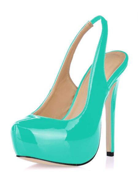 Milanoo Zapatos de charol de moda