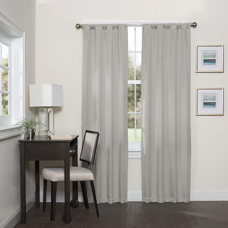 Eclipse Darrell Blackout Rod-Pocket Single Curtain Panel, One Size , Gray