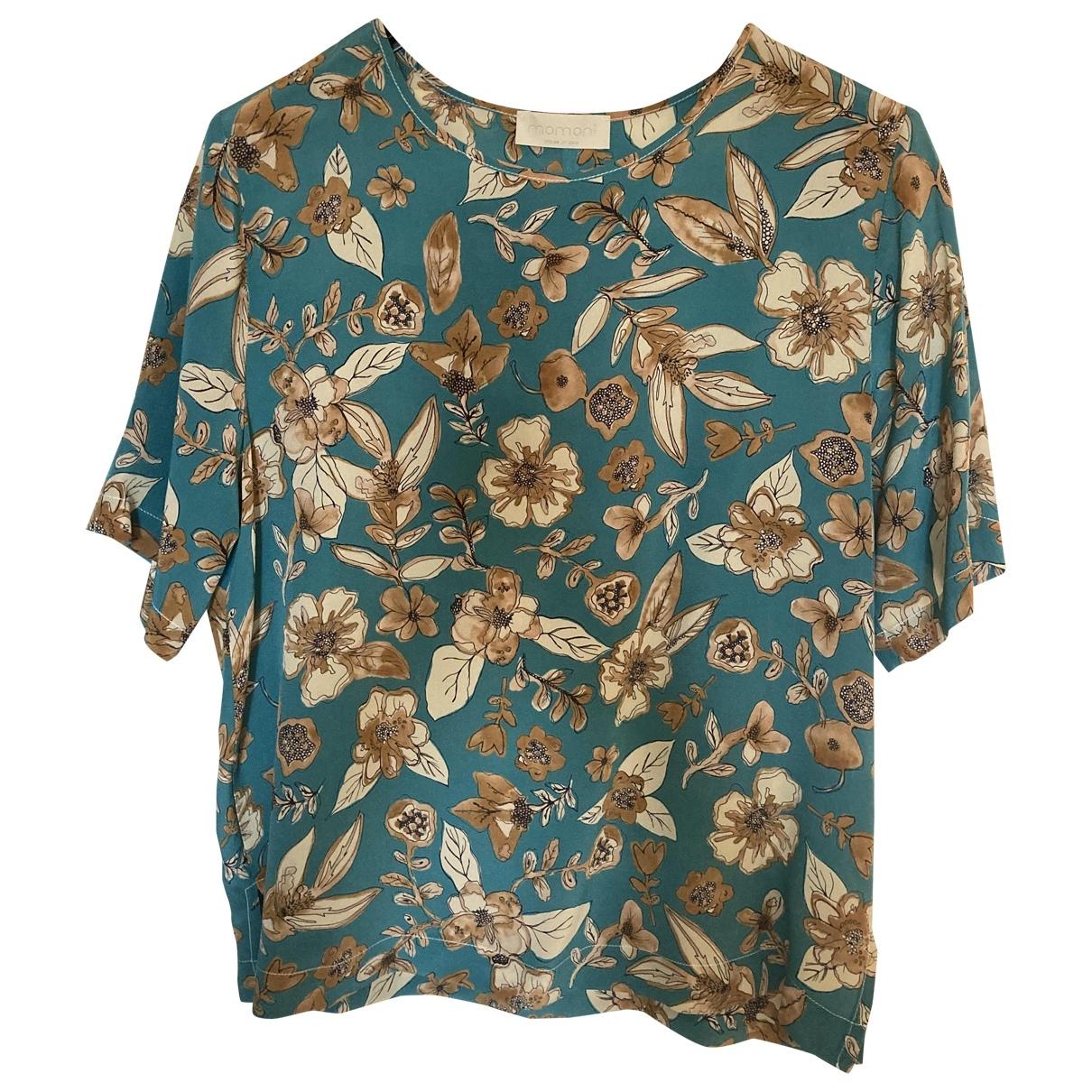 Momoni - Top   pour femme en soie - bleu