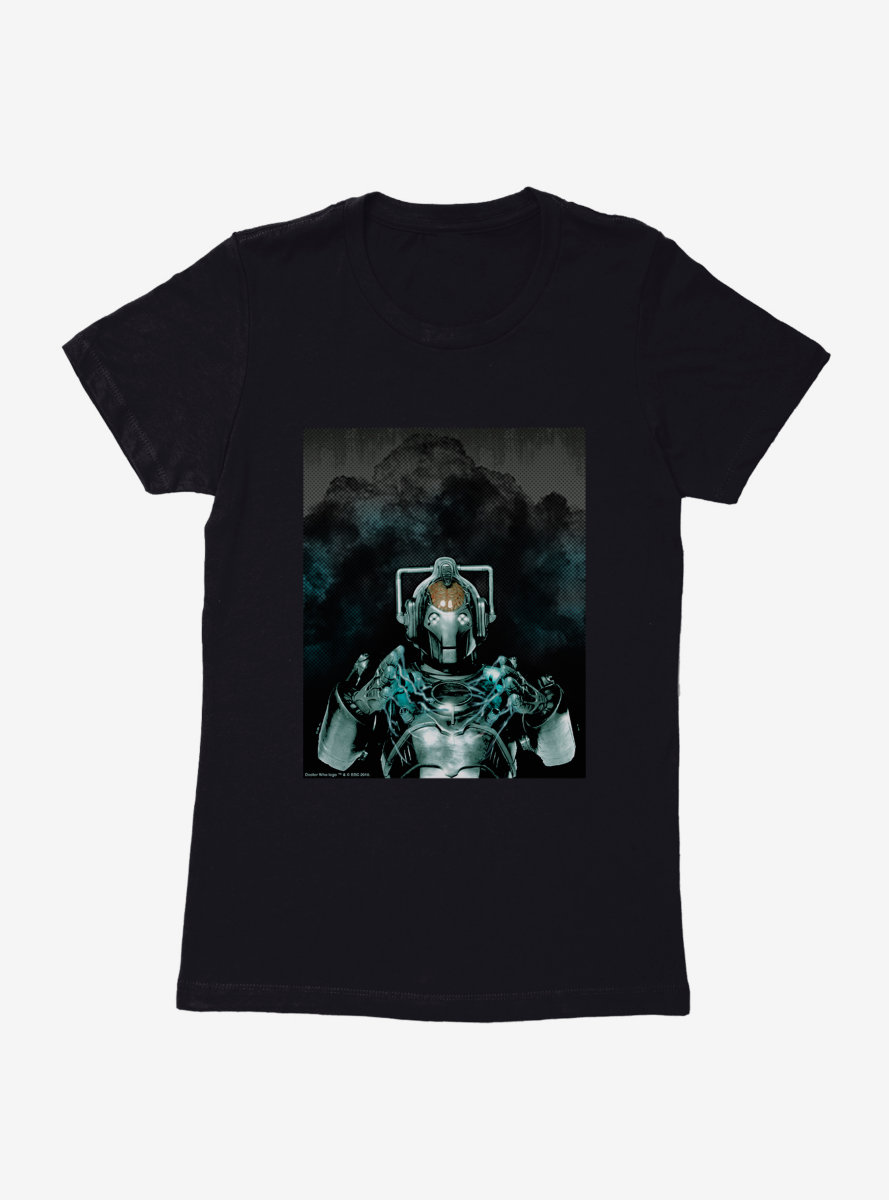 Doctor Who Cybermen Explosion Womens T-Shirt