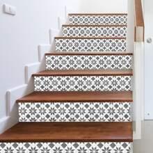 1pc Geometric Pattern Stair Sticker