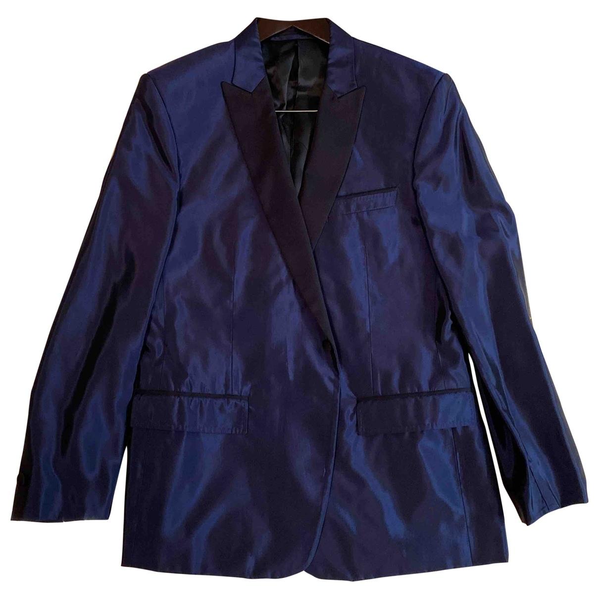 Versace \N Navy Silk jacket  for Men 54 IT