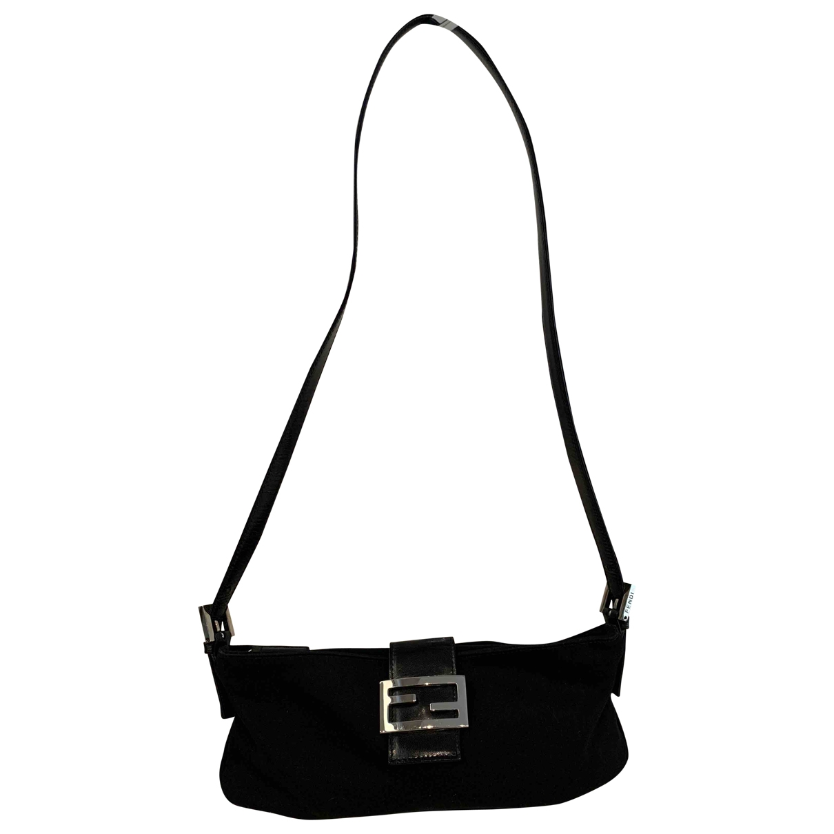 Fendi Baguette Handtasche in  Schwarz Leinen