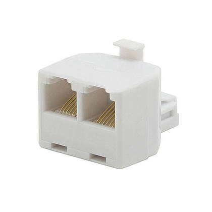 T Adapter 6P6C, 1x Male to 2x Female - Monoprice®