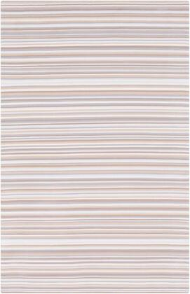 MTM1000-23 2' x 3' Rug  in Medium Gray and Khaki and White and Camel and Pale