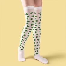 Socken mit Pflanzen Muster