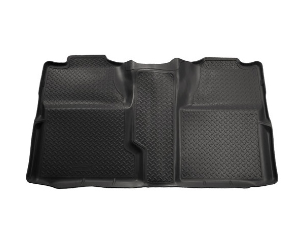 Husky Liners 61521 2nd Seat Floor Liner | Classic Style Series Black Chevrolet Silverado 1500 LT Crew Cab Pickup 2007