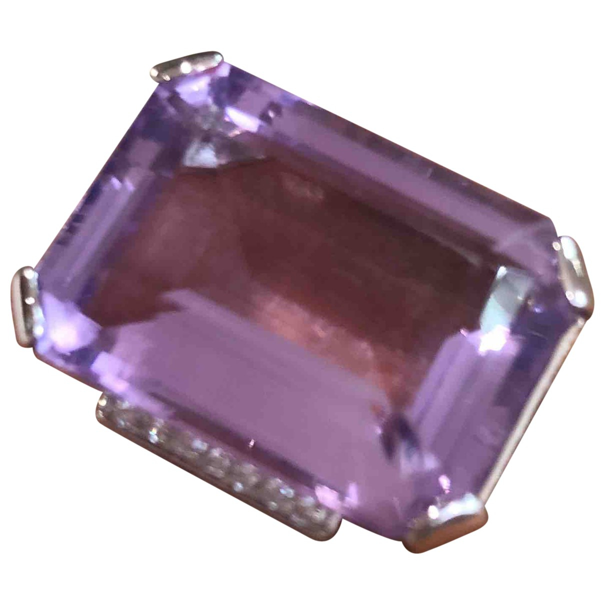 Non Signé / Unsigned \N Purple White gold ring for Women 44 MM