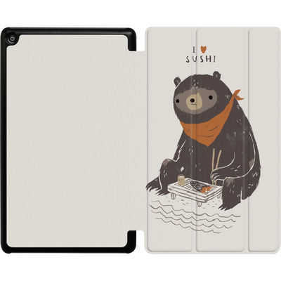 Amazon Fire HD 8 (2018) Tablet Smart Case - Sushi Bear von Louis Ros