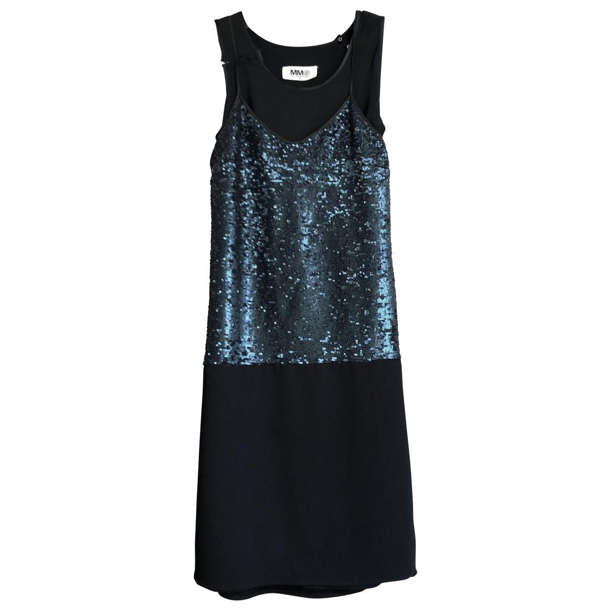Mm6 N Black Glitter dress for Women 38 FR