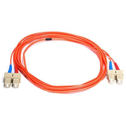 Fiber Optic Cable, OM1 SC/SC, Multi Mode, Duplex (62.5/125 Type) - Orange- Monoprice® - 2m