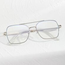 Gafas de hombres de marco metalico