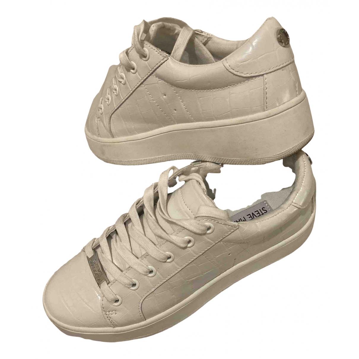 Steve Madden \N Sneakers in  Weiss Krokodil