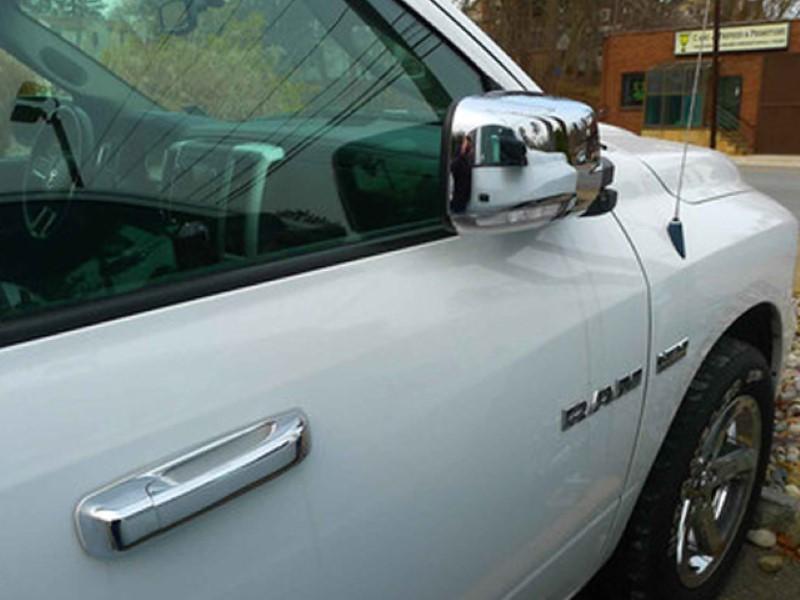 Quality Automotive Accessories 2 Piece Chrome Plated ABS Plastic Mirror Cover Set RAM Trucks RAM 2| 13-18