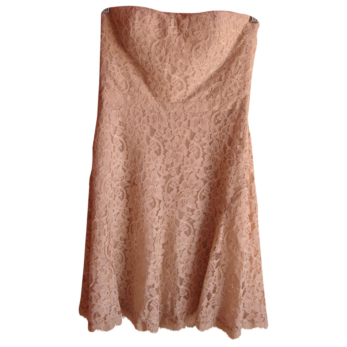 Diane Von Furstenberg \N Beige Lace dress for Women 6 US