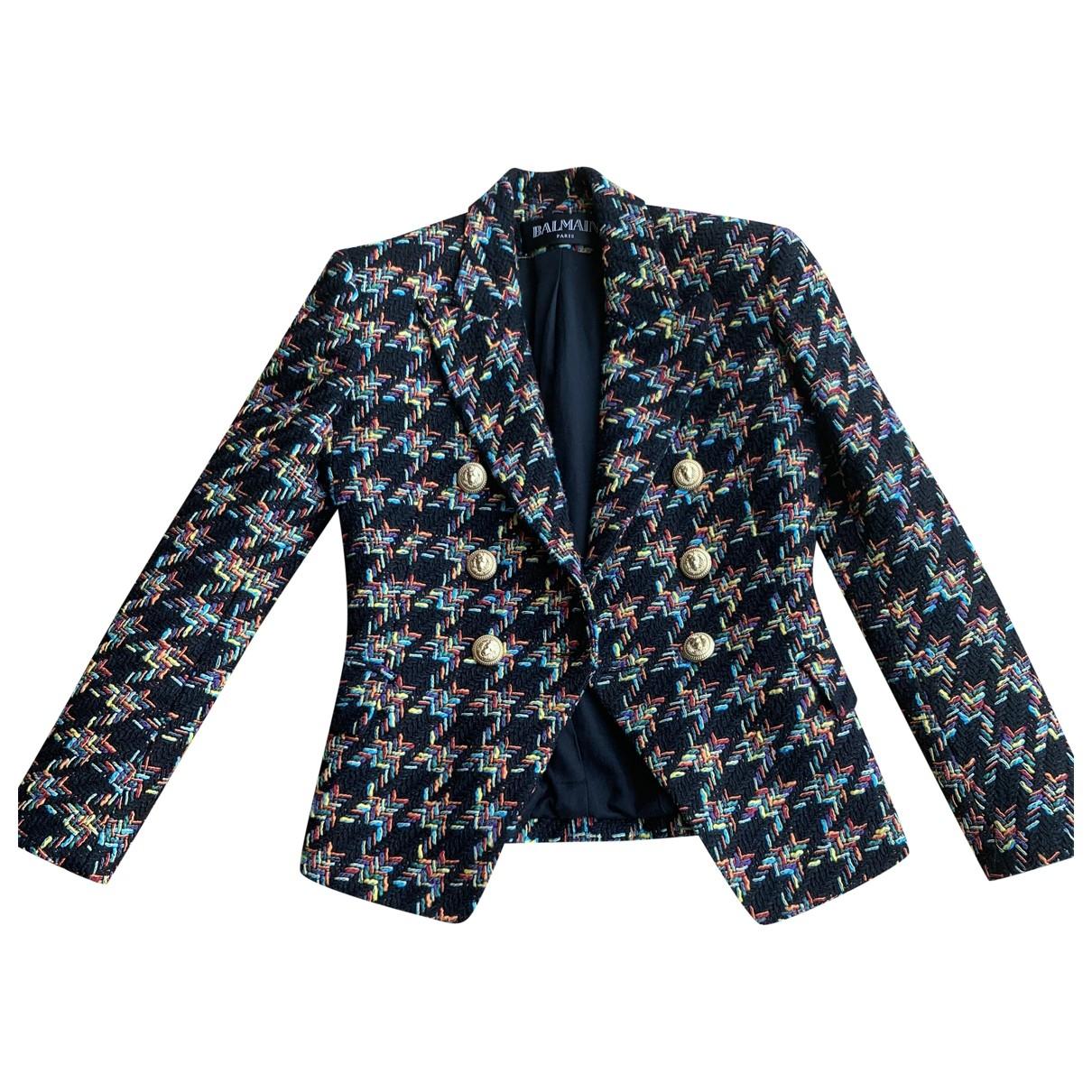 Balmain - Veste   pour femme en tweed - multicolore